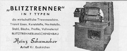 Heinzschumacher Arloff Blitztrenner Maschinenbau